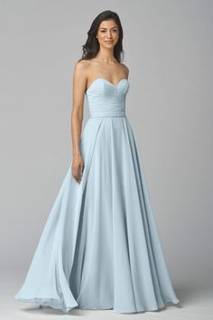 b20ea31a900 Shop Wtoo Bridesmaid Dress - 903 in Crystal Chiffon at Weddington Way. Find  the perfect made-to-order bridesmaid dresses for your bridal party in your  ...