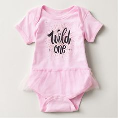Wild One Baby Bodysuit - toddler youngster infant child kid gift idea design diy