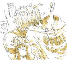 genos x saitama One Punch Anime, One Punch Man Manga, Anime One, Saitama Sensei, Genos X Saitama, One Punch Man 1, Saitama One Punch Man, Sasunaru, Lgbt Couples