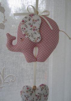 Mobile - Girlande/Mobile - Elefant/Herzen - ein Designerstück von Feinerlei bei DaWanda