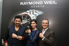 The Swiss Brand Raymond Weil felicitates the actress Amyra Dastur, along with the celebrated playback singer of Indian music industry Kumar Sanu at the RAYMOND WEIL Boutique at Palladium, Mumbai