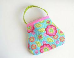 Toddler purse. Quilted. Little girl purse. Toddler handbag. Child handbag.  Toy purse. hot pink, turquoise, lime green, orange