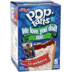 Customize a Pop-Tarts® box with a favorite photo and personal message for a unique gift idea. The perfect gift for any occasion. Love You Dad, Just For You, Customized Gifts, Personalized Gifts, Custom Gifts, Creative Gifts, Unique Gifts, Strawberry Pop Tart, Snack Recipes
