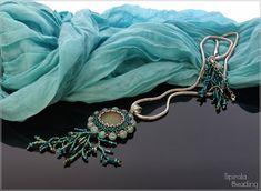Spirala beading: Under the Sea Neon Purple, Green Turquoise, Rose Petal Beads, Orange Crystals, Glass Pumpkins, Gold Wash, Pendant Design, Blue Zircon, Czech Glass