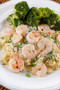 spicy garlic roasted shrimp on lemon-parmesan orzo...I would make with chicken