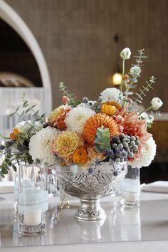 floral centerpiece.