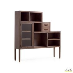 Bibliothèque basse en mindi massif L 150 cm Ulvik | krea