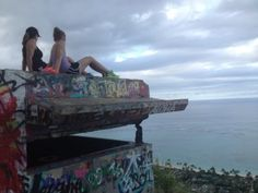 From pillbox looking down