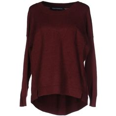 French Connection Jumper ($88) ❤ liked on Polyvore featuring tops, sweaters, maroon, french connection, red sweater, jumpers sweaters, long sleeve jumper and jumper top