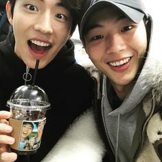 "Nam Joo Hyuk & Ji Soo - It feels wrong somehow to call this ""male perfection"" but it is. men just don't get any better than them. Ji Soo Nam Joo Hyuk, Lee Sung Kyung, Nam Joo Hyuk Selca, Nam Joo Hyuk Tumblr, Lee Joon, Yoo Seung Ho, Kim Woo Bin, Asian Actors, Korean Actors"