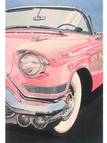 Of Course Its Pink - Cadillac | larrysartdirect - Reproduction on ArtFire