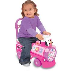 Kiddieland Disney Minnie Mouse Choo-Choo Train Ride-On