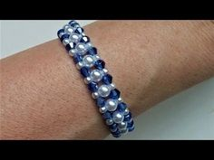 Simple and elegant beaded bracelet. Easy craft tutorial for beginners - YouTube