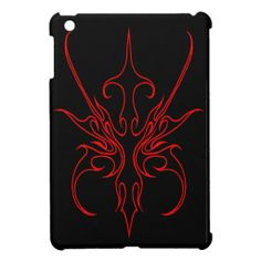 Carnival Mask Tribal Tattoo - black and red Cover For The iPad Mini #Carnival #Mask #Tribal #Tattoos #iPadMini