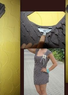 Kup mój przedmiot na #vintedpl http://www.vinted.pl/damska-odziez/krotkie-sukienki/18150796-szara-sukienka-falbanki