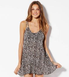 Black Slip Dress Made In Italy By AEO