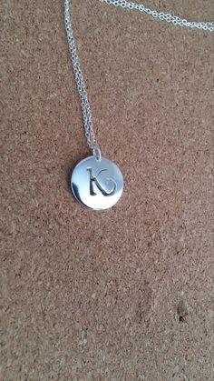 Letter K Necklace Letter K Jewelry Monogram by flowerpecker