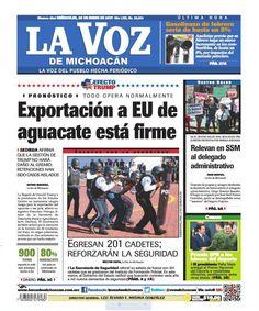¡Buenos días! Consulta la edición impresa de La Voz de Michoacán de este miércoles 25 de enero: http://www.lavozdemichoacan.com.mx/