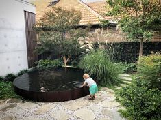 Garden Designs - - 39 Amazing Townhouse Courtyard Garden Designs Amazing Townhouse Courtyard Garden Designs - - 39 Amazing Townhouse Courtyard Garden Designs - Swimming Pools For Small Outdoor Spaces Outdoor Water Features, Water Features In The Garden, Garden Features, Back Gardens, Outdoor Gardens, Townhouse Garden, Australian Native Garden, Australian Garden Design, Plans Architecture
