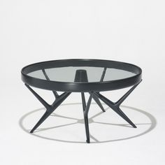Giuseppe Scapinelli, Lacquered Wood And Glass Coffee Table, c1950.
