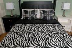 Will add splashes of RED... diff lamps minus a nightstand... Black and white bedrooms ideas: Romantic sense