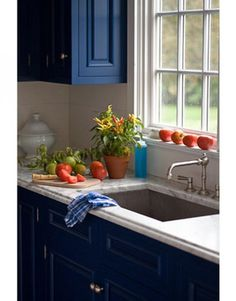 blue kitchen!