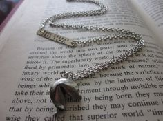The Verna Necklace  Pewter Fortune Cookie by SeizeTheNight on Etsy, $20.00