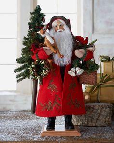 Lynn Haney santa from Horchow Christmas China, Old World Christmas Ornaments, Christmas Crafts To Make, Christmas Home, Vintage Christmas, Christmas Holidays, Christmas Wreaths, Happy Holidays, Christmas Ideas