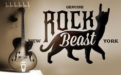 Rock Beast - Wall decals for Rock Lovers...