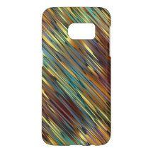 Trendy Retro Chic Faux Shiny Gold Stripes Pattern Samsung Galaxy S7 Case