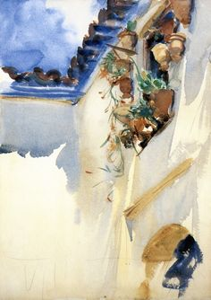 lawrenceleemagnuson:  John Singer Sargent (1856-1925)A Spanish Window (c. 1908) watercolor over pencil on paper 35 x 25 cm