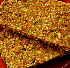 Zucchini Carrot Bread  Raw Zucchini Carrot Bread 3 cups sprouted wheat berries 1 cup flax seeds, ground 3 small zucchinis 3 carrots 1 shallot