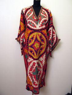 $135 Vintage Uzbek Kaftan