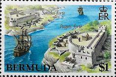 bermudas castles stamps - Buscar con Google