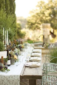 gorgeous colors, flowers, and table setting