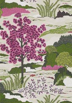 DAINTREE, Fuchsia, T85042, Collection Greenwood from Thibaut