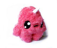 Fluse Kawaii Plush Monster Unicorn strawberry pink by Fluse123