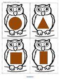 Owl Shape Cards  Owls Theme Activities for Preschool PreK and Kindergarten