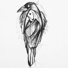 #corvus #raven #raben #tattoo #sketch #istanbul @dramatik #dramatik