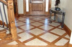 """love this look- but for humidity reasons we'd use the """"wood-look"""" tile instead of real wood"""