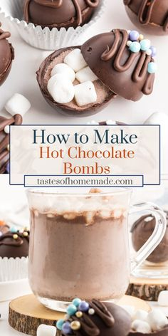 Hot Chocolate Gifts, Christmas Hot Chocolate, Homemade Hot Chocolate, Chocolate Marshmallows, Hot Chocolate Bars, Hot Chocolate Mix, Melting Chocolate Chips, Hot Chocolate Recipes, Chocolate Coffee