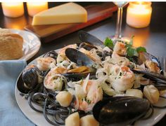 Seafood Scampi Plate