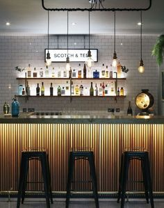 Genius modern home bar design ideas. #homebardesigngenius