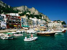 """Capri, Italy... got """"stuck"""" here for an extra day because of a ferry workers' strike! Beautiful. Went to Sarah Jessica Parker's favorite shoe store"""