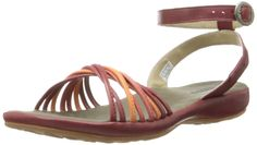 KEEN Women's Emerald City II Sandal,Burnt Henna/Melon,5 M US. Sandal featuring two-tone crisscross straps at toe and burnished footbed. Adjustable ankle strap with buckle. Non-marking outsole.