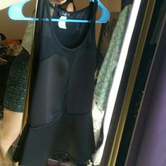 Tanktop blouse black with mesh in middle Good4club. Sexy .comfortable.no bra needed love j  Tops Blouses
