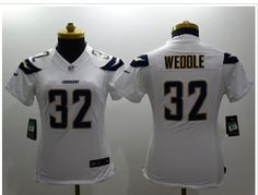 Women's New Chargers #32 Eric Weddle White NFL New Limited Jersey