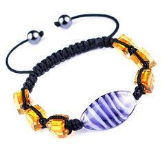 $1.99  45mm Blue Nylon Lampwork Hematite Bracelets Jewelry Gift #Eozy