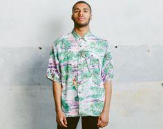 Camicia di Mens stampa astratta. Vintage anni ' 90 di NorthernGrip