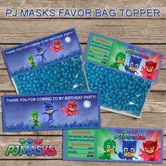 Pj Masks Favor Bag Topper-PJ Masks by PoppyPartyPrint on Etsy